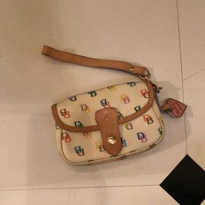 Dooney & Bourke Multi Color DB Logo Wristlet